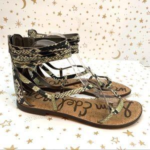 Sam Edelman | Glenda Snake Print Gladiator Sandals